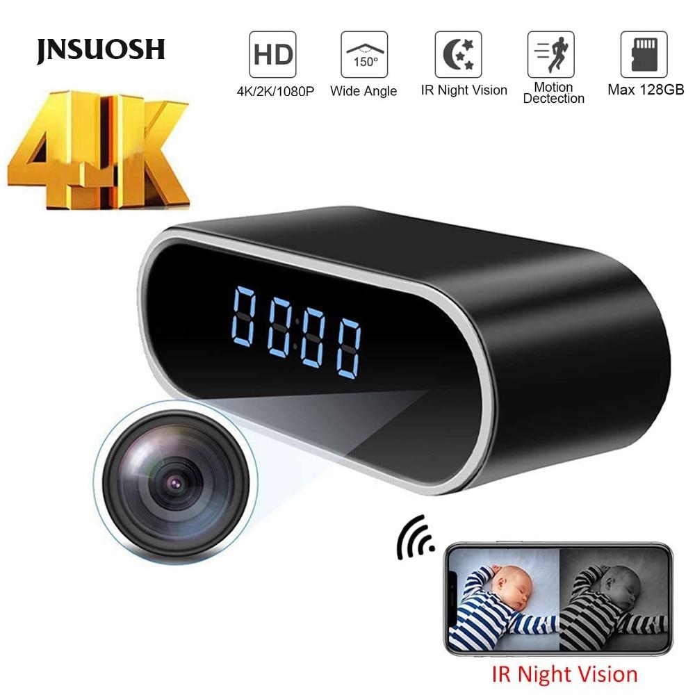 4K 1080P détection à distance Mini WIFI horloge caméra Portable DV DVR Mini caméscope IP nounou Cam USB Chargin avec Version de nuit