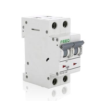 2P 230V 400V AC Circuit Breaker 6A 10A 16A 20A 25A 32A 40A 50A 63A MCB Miniature AC Circuit Breaker new lv429573 circuit breaker compact nsx100b tmd 50a 4 poles 4d