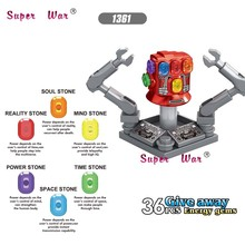 50pcs Avengers Endgame Iron Man Infinity Gauntlet With Power Stones MK85 AntMan Hawkeye War Machine building block for children(China)