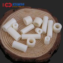 Coluna de isolamento coluna de almofada de plástico em linha reta através da coluna manga de náilon abs junta redonda buraco pilar espaçador m3m4 100 peças