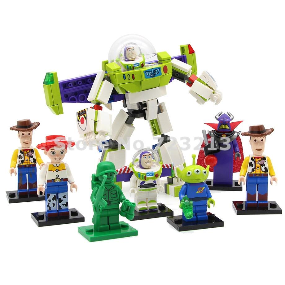 Building Blocks Toy Model Bricks Iv Story Buzzlight Woody Figure Soldier Cartoon