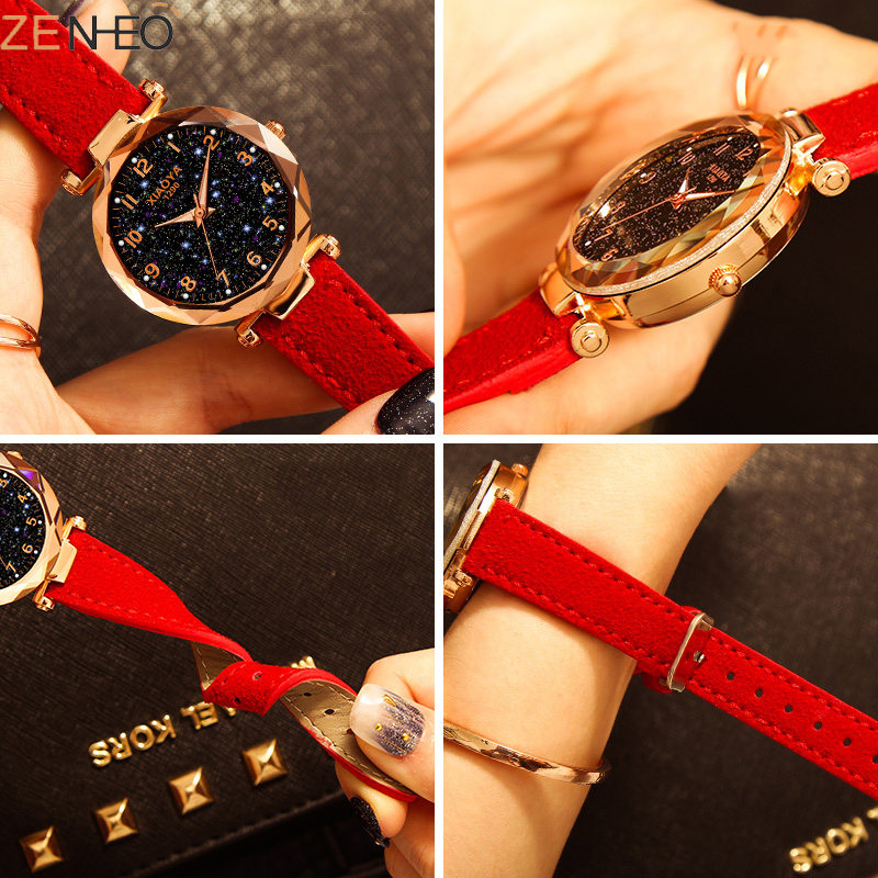 Luminous Dial Clock Ladies watch Fashion Women's Watches Quartz Wrist Watches Starry Sky Women Bracelet Girls clock gift