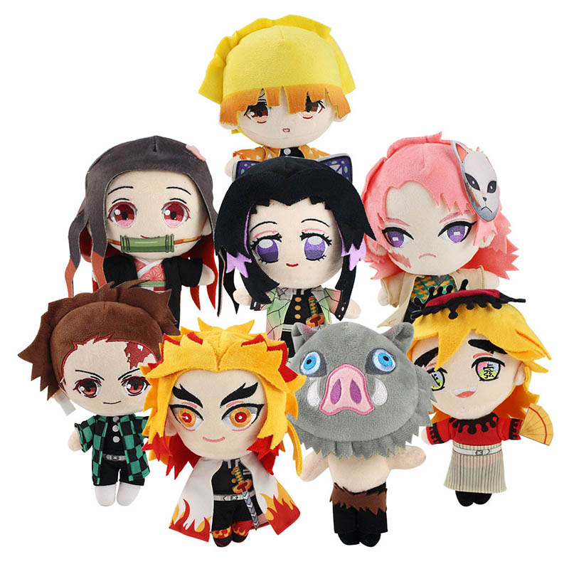 Demon Slayer Plush Toys Kochou Shinobu Kamado Nezuko Tanjirou Inosuke Zenitsu Rengoku Kyoujurou Sabito Douma Soft Stuffed Dolls