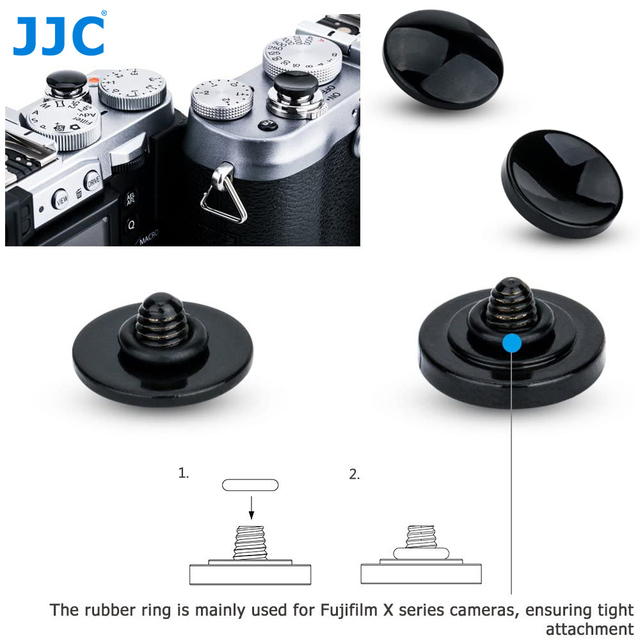 JJC Metal Ontspanknop voor Fujifilm X H1 XPRO2 X100F X100T XE3 XT20 XT2 XT10 XT3 GS645s XT30 SONY RX1RII leica M9