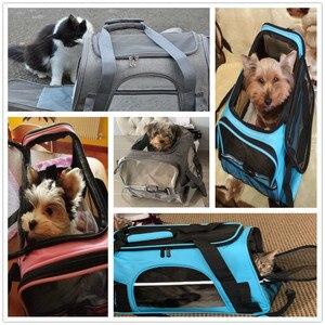 Image 5 - Köpek taşıma torbaları taşınabilir Pet kedi köpek sırt çantası nefes kedi taşıyıcı çanta havayolu onaylı taşıma taşıma kediler için küçük köpek