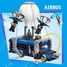 Модель самолета Fortress Night Airbus, строительные блоки fortnighting, воздушные блоки, игрушки для детей, подарки
