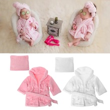 Bathrobe Towel Washcloth-Set Newborn-Baby Infant 0-6M Photography-Props Flannel-Material