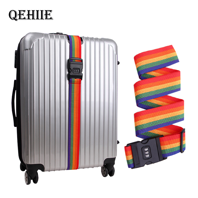 QEHIIE 2019Travel Luggage Strap Adjustable Password Lock Packing Belt Baggage Secure Lock Anti-theft Luggage Strap Bundling Belt