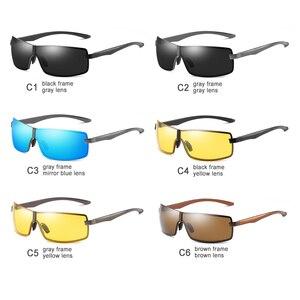 Image 5 - Bm Aluminium Frame Gepolariseerde Zonnebril Mannen UV400 Merk Designer Rijden Zonnebril Mannelijke Goggle Spiegel Vintage Oculos Masculino