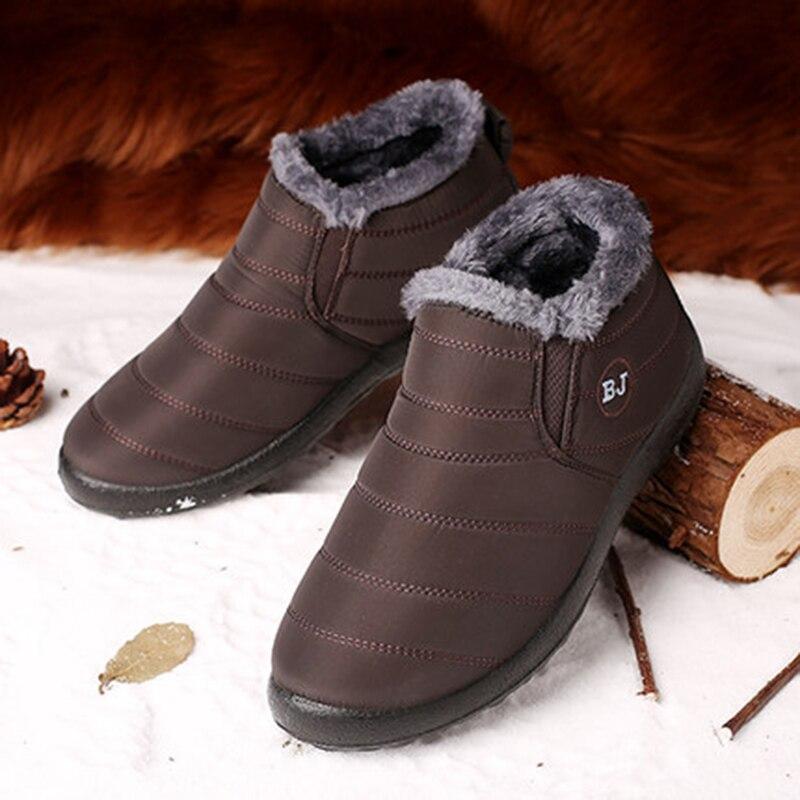 Зимняя мужская обувь; мужские ботинки; Теплые ботильоны на толстом меху; Мужская обувь; водонепроницаемые зимние ботинки; botas hombre; зимняя обу...