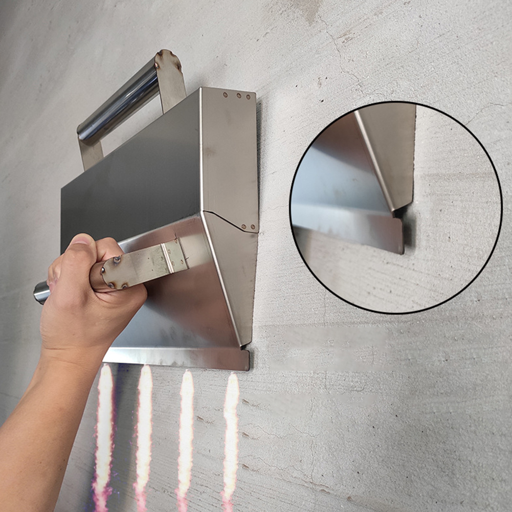 Ergonomic Plaster Scraper Mortar Hand Tool Anti Slip Cement Wall Decoration Stainless Steel Durable High Performance With Handle