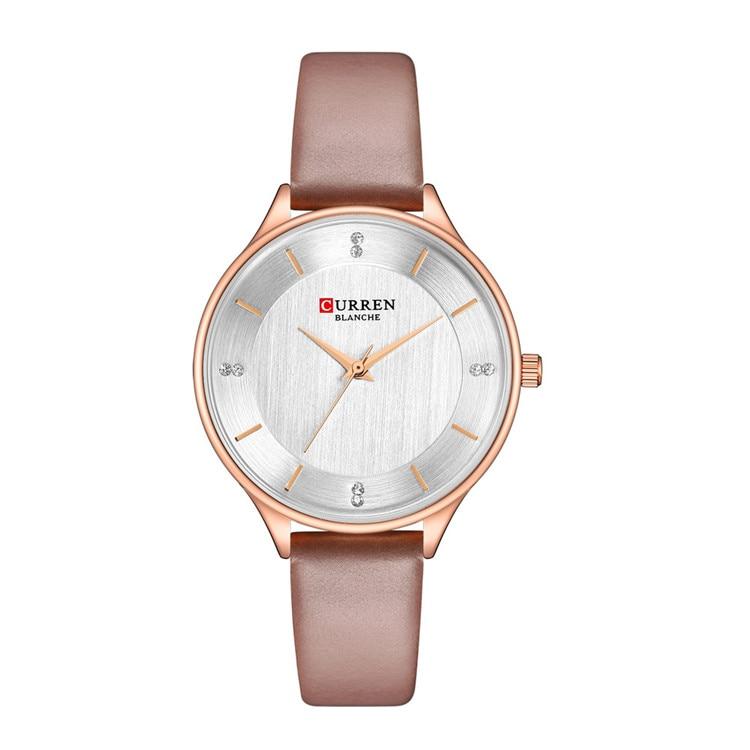 Женские часы Relogio Feminino CURREN женские часы с розовым кожаным ремешком Wriswatch МОДНЫЕ ЖЕНСКИЕ НАРЯДНЫЕ часы женские часы 9041