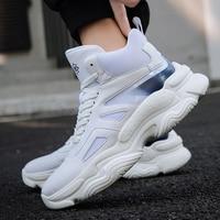 Platform Sneakers Men Flyknit Breathable Damping Casual Male Footwear Light Hard Wearing Tenis Masculino Running Shoes 39 46