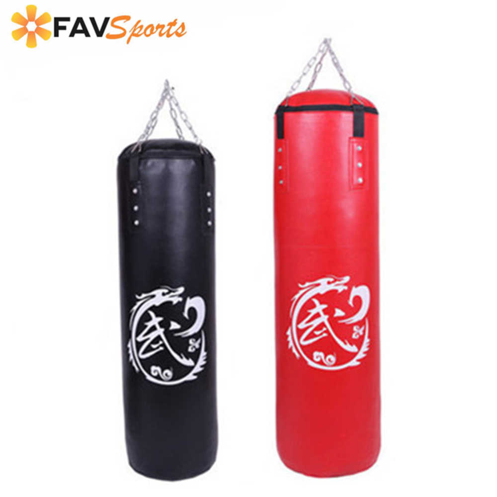 New PU Empty Hanging Shape Boxing Sand Bag Taekwondo Fitness Sandbag Bag Boxing Punching 2019 High Quality Bag Sport Fitness Bag