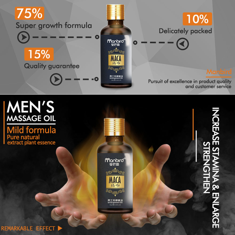 3Pcs Penis Enlargement Developed Sex Delay Essential Oil Dick Growth Thicken Stronger MACA Fast Effective Erection Lube for Men 2