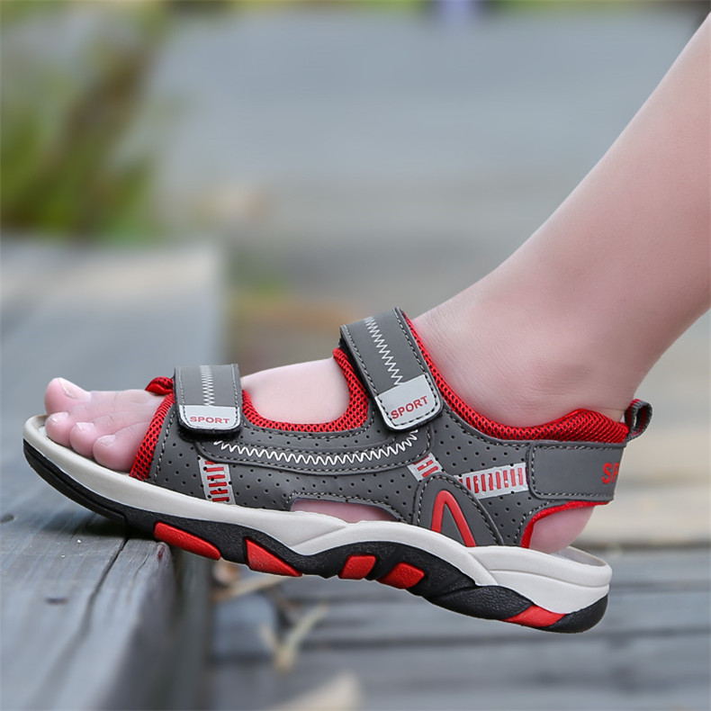 2020 Summer Boys Sandals Kid Sandals Children Shoes Cut-outs Rubber School Shoes Breathable Open Toe Casual Boy Sandal (20)