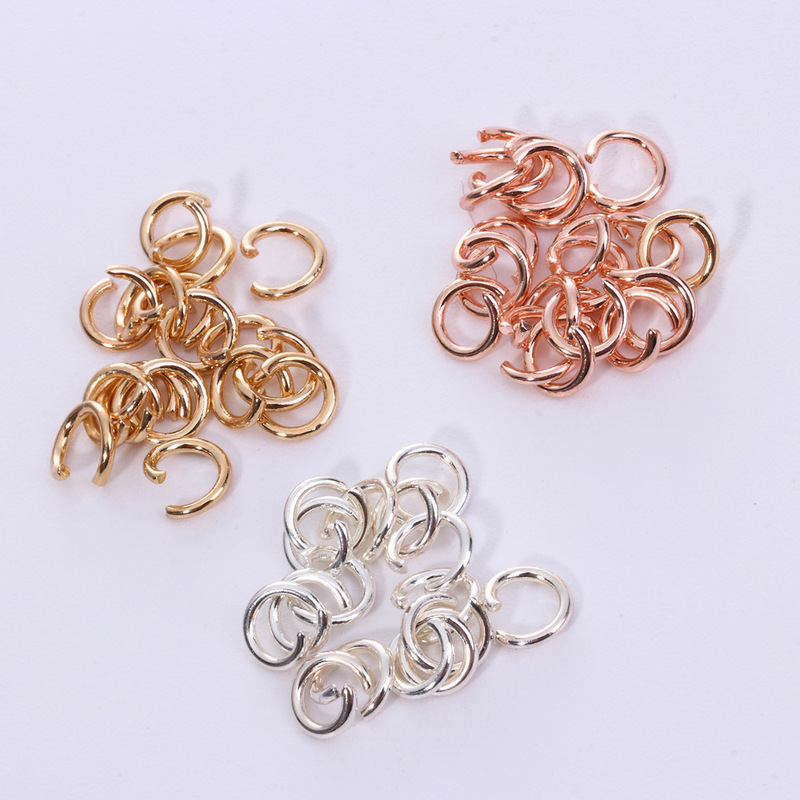 50pcs Stainless Steel Rose Gold Silver Color Open Jump Rings DIY Accessories Findings Handmade Jewelry Making Component 0.5*4mm