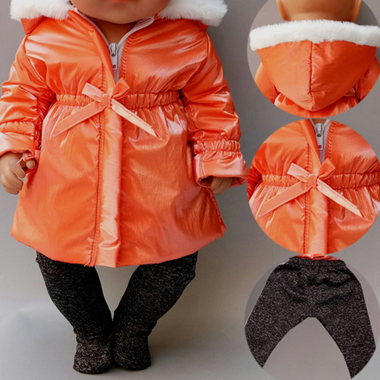 40cm Baby Doll Clothes Jacket Pants Set 18 Inch Doll Clothes Winter Coat Clothes For Dolls