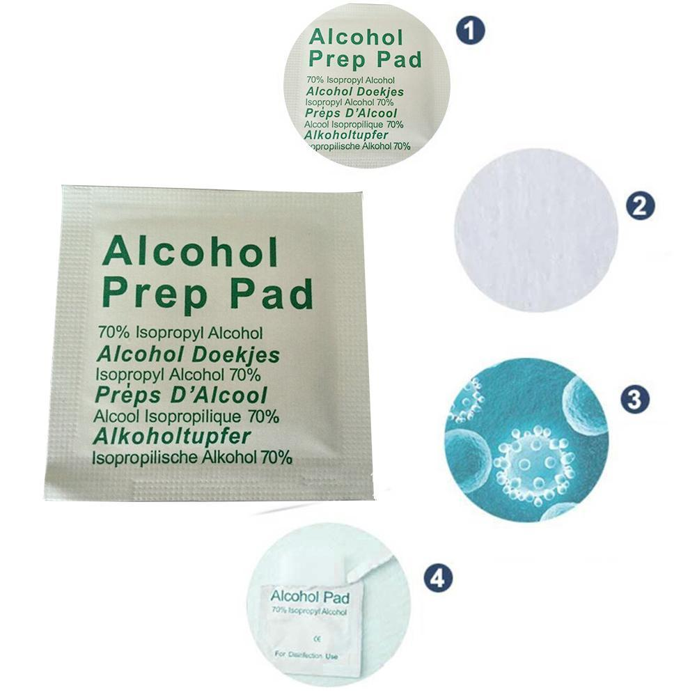 Portable Alcohol Prep Pad Swabs Pads Wet Wipes Cleanser Effective Cleaning Sterilization First Wipes Disinfection Makeup Ai L3M0