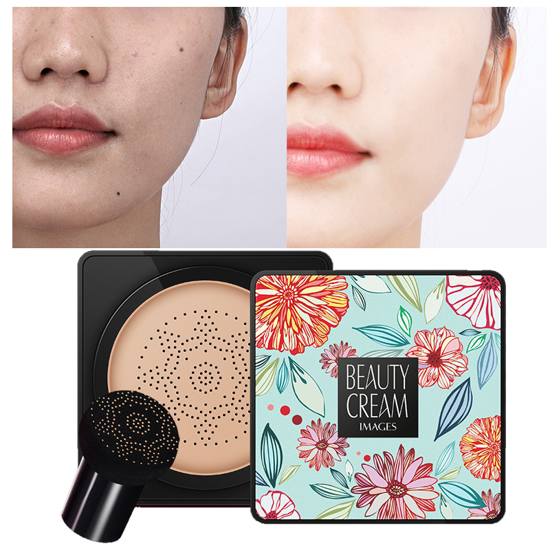 BB Air Cushion Foundation Korean Mushroom Head CC Cream Concealer Whitening Makeup Cosmetic Waterproof Brighten Face Base Tone M image