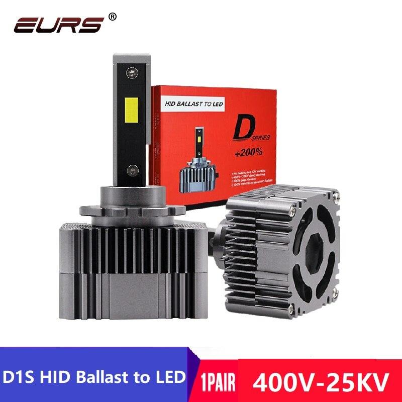 EURS 50W 6000k Auto LED Car Headlights D1S D2S D3S D4S Car HID Headlights D1R D2R D3R D4R Canbus Luces Led Para Auto 10000LM 12V