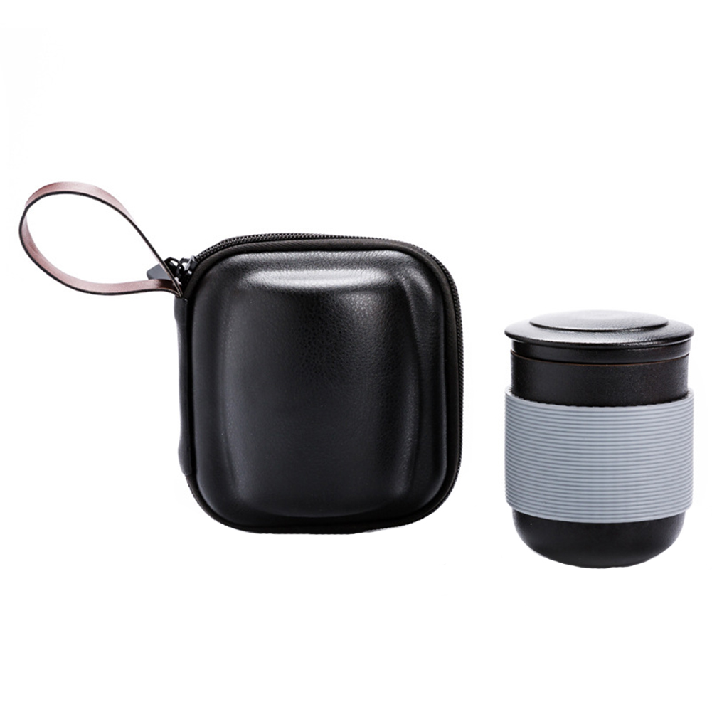 Portable Drinkware Filter Teapot Gift Insulation With Lid Home Bag Travel Tea Set Strainer Ceramic Water Coffee Office
