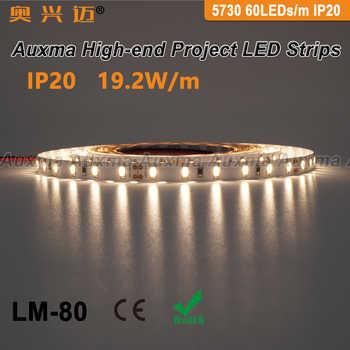 5730 60LEDs/m LED Strip,19.2W/m,IP20,DC12V/24V,300LEDs/Reel,5m/Reel,Non-waterproof for indoor living room bedroom hotel