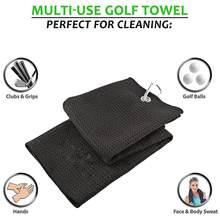 Toalha de golfe waffle padrão algodão com mosquetão limpeza toalhas microfibra gancho limpa clubes bolas mãos