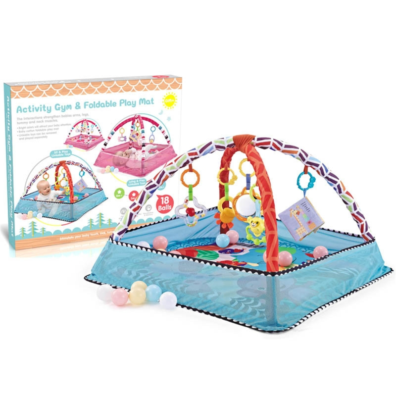 Children's Mat Baby Play Mat Kids Rug Gym Fitness Frame Activity Fence Toys
