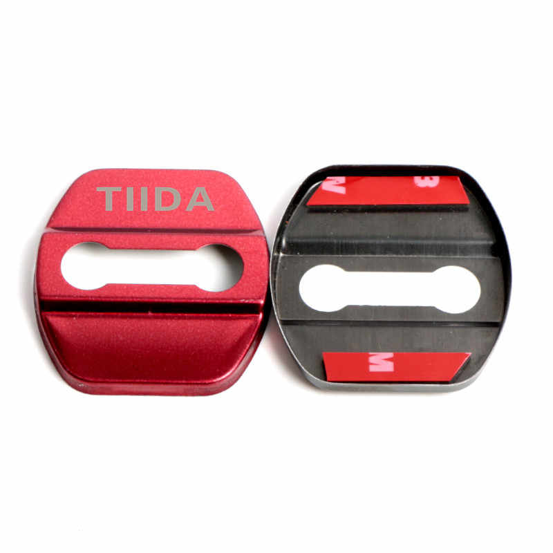 N\A Car styling Chrome For Car Accessories juke qashqai j11 10 x-trail note tiida nismo Car Styling Car-Styling car door lock cover Auto Emblems Case Door Handle Chrome Color : JUKE Black