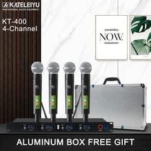 wireless microphone professional karaoke microphone UHF studio system 4 channel  lapel Handheld Headset KTV dynamic mic Karaoke цена