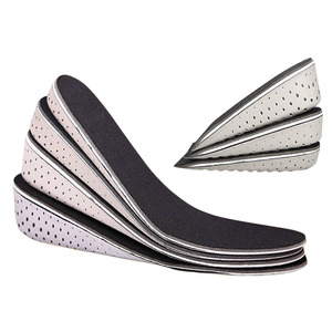 1 Pair Hard Breathable Memory Foam Height Increase Insole Heel Lifting Inserts Shoe Lifts Shoe Pads Elevator Insoles for Unisex
