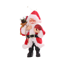 Ornaments Tree Decor New Year Christmas Reindeer Snowman Santa Claus Standing Doll Home Decoration Merry