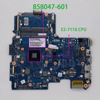 for HP Notebook 14 14-AN Series 858047-601 858047-001 6050A2822801-MB-A01 UMA w E2-7110 CPU Laptop Motherboard Mainboard for hp 240 246 g4 14 ac series 814051 001 814051 501 n3050 uma skittl10 6050a2730601 mb a01 laptop motherboard mainboard tested