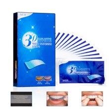 28 шт./14 пар 3D усовершенствованные полоски для отбеливания зубов удаление пятен для гигиены полости рта чистая двойная эластичная полоска для отбеливания зубов