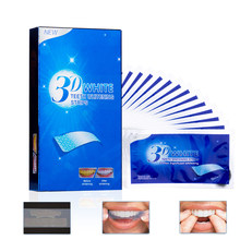 28Pcs/14Pair 3D Advanced Teeth Whitening Strips Stain Removal for Oral Hygiene Clean Double Elastic Dental Bleaching Strip(China)