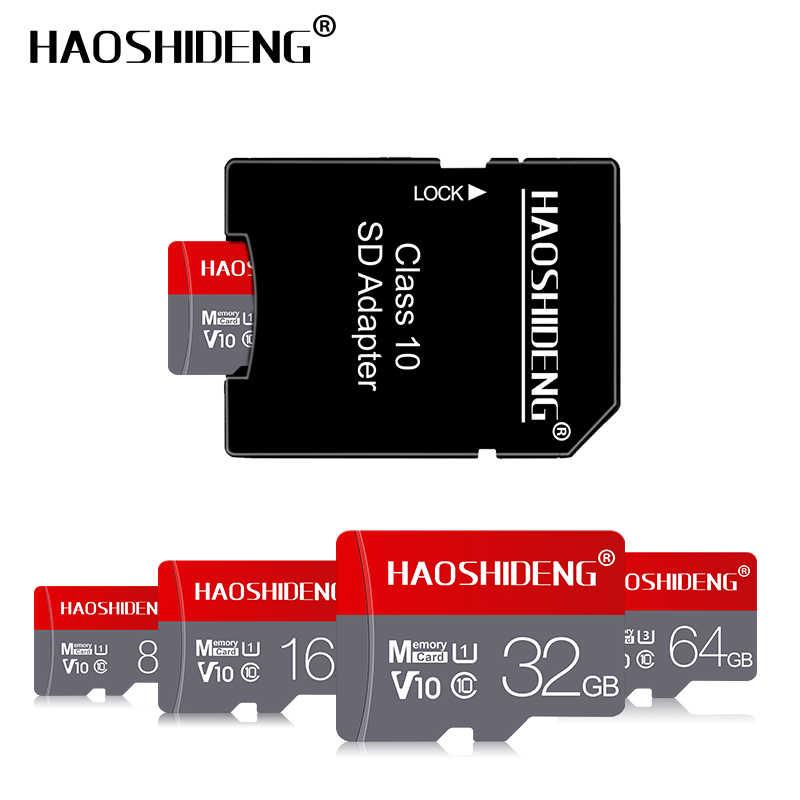 Micro sd tf cartão 16 gb 32 gb 64 gb 128 gb classe 10 memória flash cartão microsd 8 16 32 64 128 256 gb para smartphone adaptador navio livre