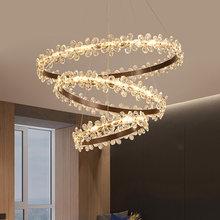 Современная Хрустальная подвеска свет светодиодный светильник