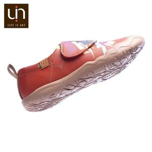 Image 5 - UIN/Цветная дизайнерская детская обувь с рисунком льва; модные кроссовки из микрофибры для мальчиков и девочек; Брендовая обувь; детская мягкая обувь на плоской подошве