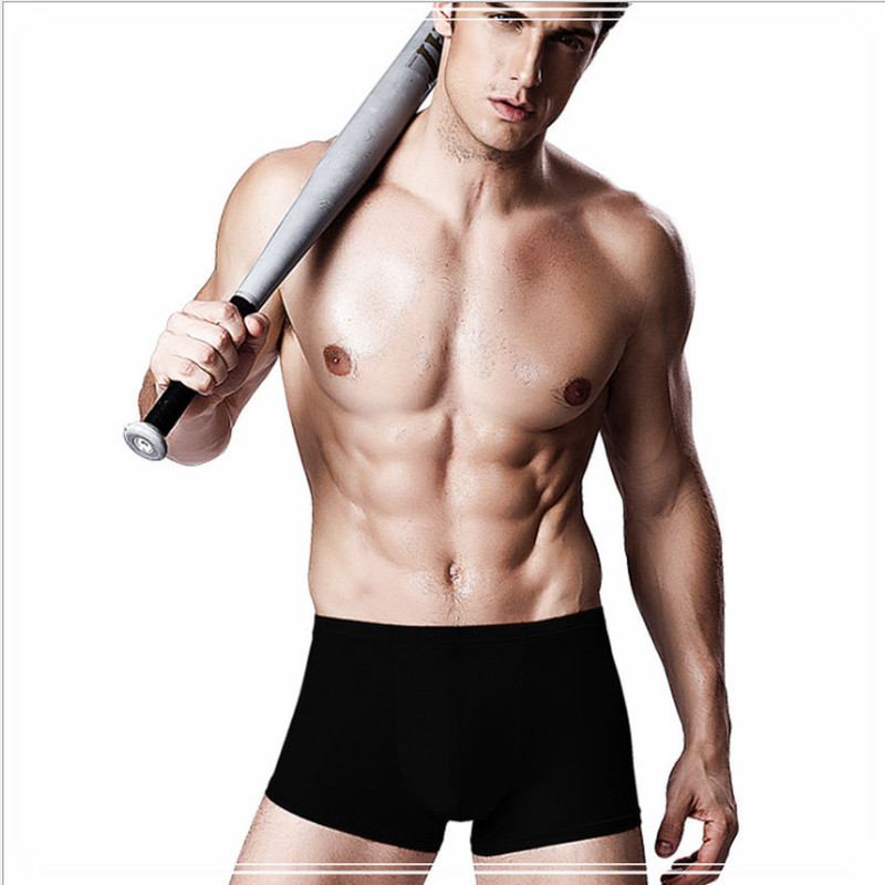 Men Cool Ice Silk Summer Comfortable Underwear Boxers Ultra Thin Soft Solid Underpants Smooth Sheer Breathable
