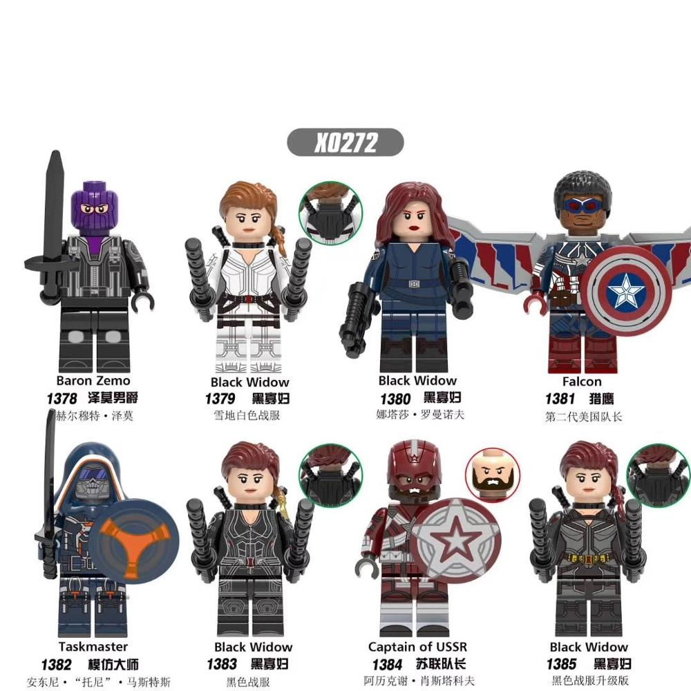Building Super Heroes Action Figure Black Window Falcon Capation American Baron Zemo Captain Of USSR Taskmaster For Children Kid