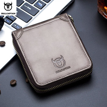 BULLCAPTAIN new men's wallet leather coin purse RFID wallet clutch bag leather wallet men's wallet Credit card package фото