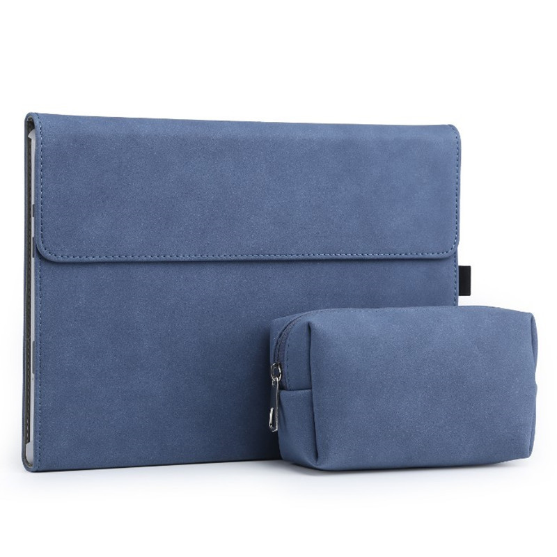 SeenDa Matte Magnetic Buckle Laptop Sleeve Bag For Surface Pro 7 Women Men Notebook Cover With Power Pack Tablet Case