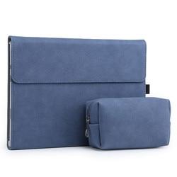 Seenda matte magnetic buckle bolsa de manga para computador portátil superfície pro 7 capa para notebook com pacote de energia caso tablet