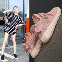 Hot 2019 New Brand Fashion Sneakers Women Shoes Flat Platform Shoes Woman Breathable Casual Lace-up Low-cut Luxury High Quality 2019 hot womens fashion sneakers flying shoes platform shoes new woman casual low cut lace up high qualtiy europe brand design