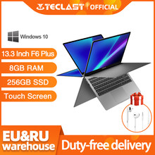 Teclast Laptop 13,3 Zoll F6 Plus Touchscreen 360 Grad Rotation 1920 × 1080 8GB RAM 256GB ROM windows 10 OS 38000mWh Batterie(China)