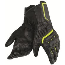 2018 ASSEN Dain Gloves Streetable Track Motorcycle Racing Black Yellow Genuine Leather Gloves