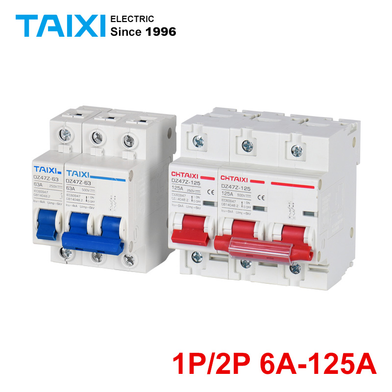 DZ47Z63 Photovoltaic DC Miniature Circuit Breaker 1P 2P DC1000V DC Switch 500V 250V in Circuit Breakers from Home Improvement