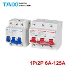 DZ47Z63 Photovoltaic DC Miniature Circuit Breaker 1P/2P DC1000V DC Switch 500V/250V