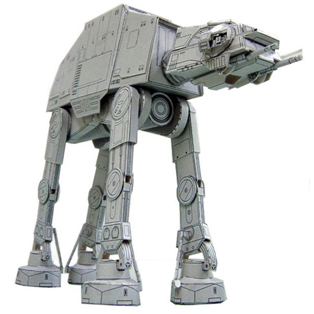 20cm Length All Terrain Armored Walker AT-AT 3D Paper Model Paper craft Toys 3